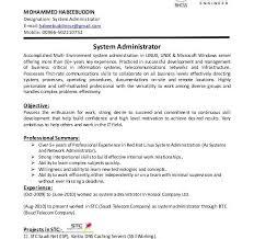 Linux System Administrator Resume Sample] Linux Administrator .