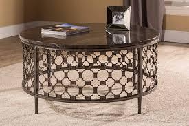 hilale brescello round coffee table charcoal blue stone