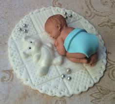Baby Boy Shower Fondant Cake Topper Baby Shower Decorations On Luulla