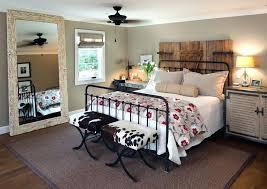 rustic metal bed framewarm and comfortable rustic modern farmhouse ...