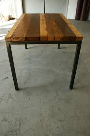 reclaimed wood and metal furniture. Reclaimed Wood Table And Metal Furniture I