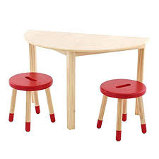 natural wood round table max lily natural wood kid and toddler half round table set with 2 red stools natural wood table set natural edge wood table tops