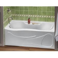 monarch acrylic peanut bath tub shown in white 020