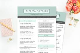 Pretty Resume Template Simple Chic Resume Template Package Resume Templates Creative Market
