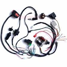110cc atv complete electrics 110cc 50cc 70cc 125cc wiring harness atv mini quad coolster