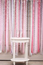 satin ribbon and lace wall