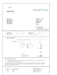 Sample Of Invoice For Consulting Services Sample Invoice For Consulting Services Free Invoice Template Sample