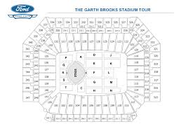 Ford Stadium Seating Chart The Garth Brooks Stadium Tour Ford Field