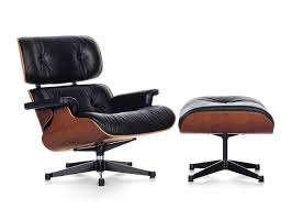 vitra eames lounge chair  ottoman (classic) black