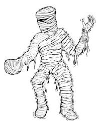 Small Picture Mummy Coloring Page Creepy Mummy