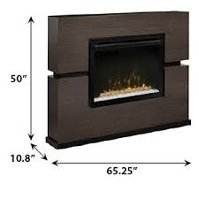 Linwood Electric Fireplace Mantel Package w/ Acrylic Ice in Grey ...