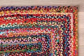braided cotton rug feet braided rug rectangular floor mat cotton rug handmade doormat multi color rugs braided cotton rug