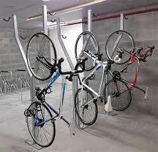 vertical wall bike storage