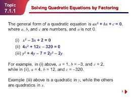 how solve quadratic equation factoring 7 1 topic solving equations photoshot elegant how solve quadratic equation