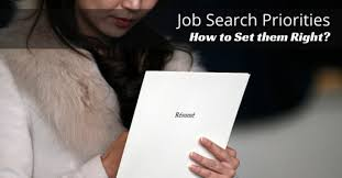 how to do job search job search priorities or goals how to set them right wisestep