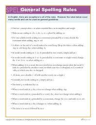 General Spelling Rules High School Spelling Words