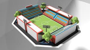 Football Stadium Design Software How To Make Low Poly Football Stadium In Blender Software Make 3d