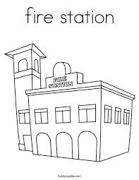 Small Picture fire station Coloring Page Twisty Noodle