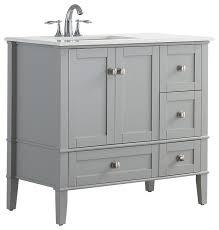 36 in bathroom vanity with top. simpli home ltd. - chelsea bath vanity with white quartz marble top, left offset 36 in bathroom top