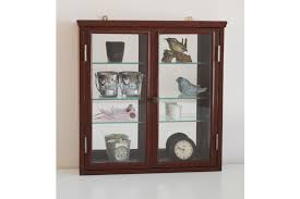 vintage wall cabinet with glass doors and backed mirror wall mounted display bathroom