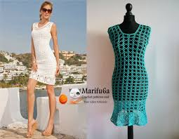 Free Crochet Dress Patterns Impressive How To Crochet Summer Dress Tunic Free Tutorial Pattern By Marifu48a