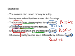 passive and active verbs active and passive voice