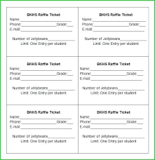 Benefit Ticket Template Sample Raffle Ticket Coupon Printable Template Format
