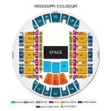 Ms Coliseum Jackson Seating Chart Mississippi Coliseum 2019 Seating Chart