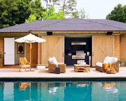 Image Bathroom Pool Cabana Designs Sliding Barn Doors Outdoor Wicker Furniture And Outdoor Kitchen Qapixcom Amazing Pool Cabana Ideas Features Outdoor Kitchen And Outdoor