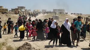 i iers give their lives helping families flee isis a  over 17 000 have fled northwest mosul