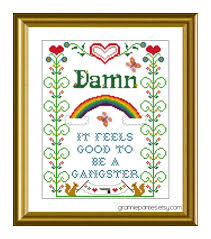 Funny Cross Stitch Patterns Free Interesting PDF Counted Cross Stitch PATTERNS Damn It Feels Good To Be A