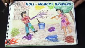 holi festival memory drawing project for kids jk easy craft 120 you