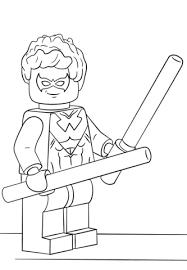 Lego Nightwing Coloring Page Lego Party Lego Coloring Lego