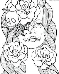Sugar Skull Coloring Page Coloring Pages Sugar Skull Color Skulls