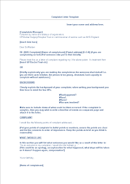Letter Of Complain Template Complaint Letter To Hospital Manager Templates At