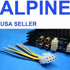 alpine 8 pin amplifier speaker wire harness plug
