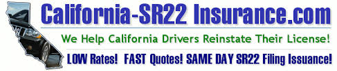 Sr22 Insurance Quotes Enchanting CaliforniaSR48 Insurance California SR48 Filing Information