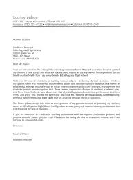 teaching job cover letter sample in employment cover letters my