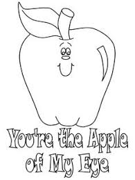 Small Picture Apple coloring page Letter of the week Pinterest Coloring
