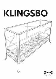 pdf download manual furniture ikea klingsbo glass door cabinet 47x31 click to preview klingsbo glass door cabinet a52 cabinet