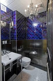 small chandelier for bathroom. Bathrooms: Small Chandelier Is Perfect For The Compact Industrial Bathroom S
