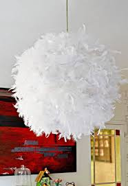 make your own gorgeous diy feather lampshade this simple ikea regolit will