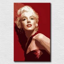 world famous star marilyn monroe oil paintings on canvas decoration oil painting hand painted canvas pop