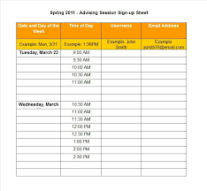volunteer sign up sheet templates 40 sign up sheet sign in sheet templates word excel