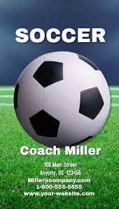 Soccer Business Card Soccer Coach Business Card Template Postermywall