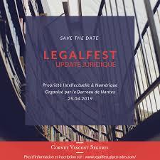 organisé par le barreaunantes le 25 avril prochain à la maison de l avocat inscription sur legalfest gipco adns secretdesaffaires