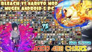 BLEACH VS NARUTO 3.3 MOD 490 CHARACTERS MUGEN PC & ANDROID [DOWNLOAD] |  Naruto games, Anime fight, Naruto