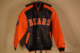 nfl chicago bears faux leather jacket size xl