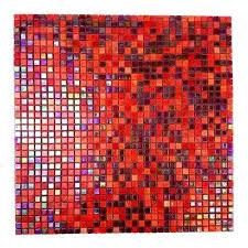 constellation red mix 11 7 in x 11 7 in x 3 20 mm glass mosaic tile