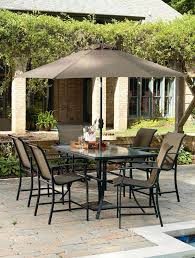 patio furniture sets kmart kmart jamestown patio furniture brown chairs and black table under brow high
